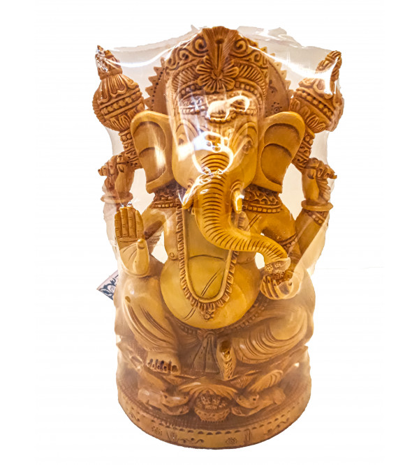 Kadamba Wood Handcrafted Lord Ganesha Figure