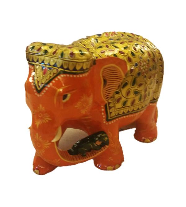 Kadamba wood Handcrafted Painted Elephant