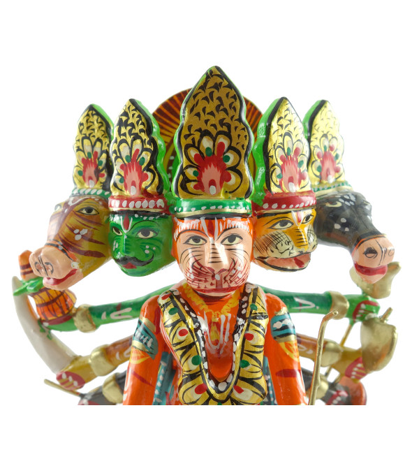 HANDICRAFT WOODEN HANUMANJI 7 INCH