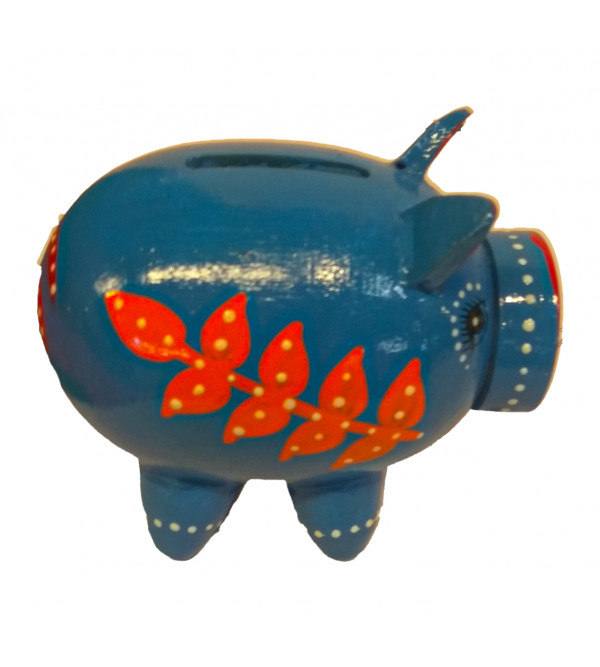 Wooden Hand  Crafted Lacquerware Piggy Bank from Varanasi