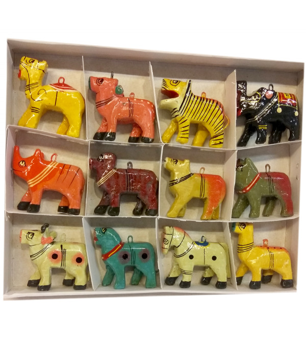 Wooden 12 pieces of Animal Set 2 inch/each