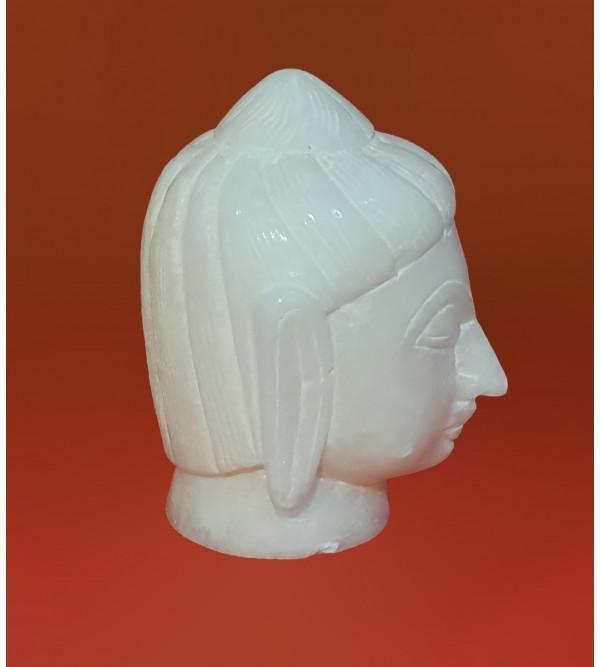 Alabaster 3inch BUDDHA HEAD