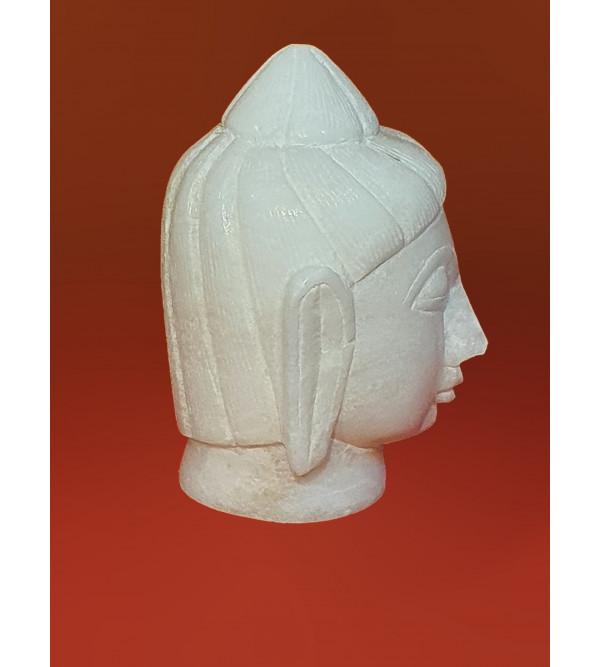 Alabaster 4 inch BUDDHA HEAD