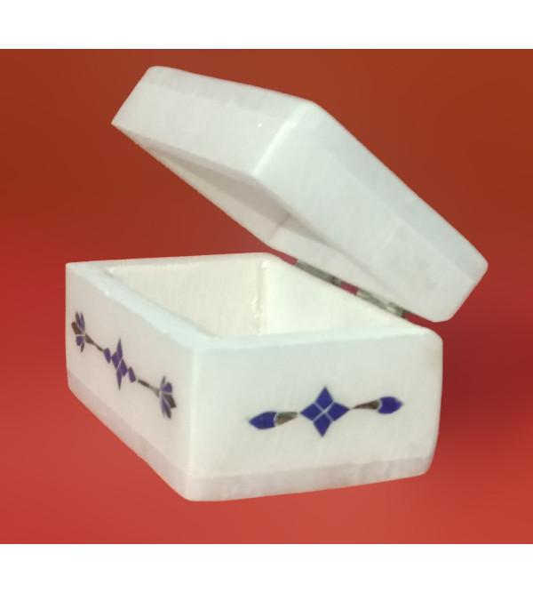 ALBASTER SEMI PRECIOUS STONE  BOX 3X2 INCH