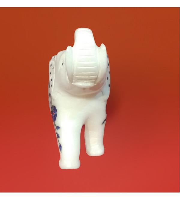 ALBASTER SEMI PRECIOUS STONE  ELEPHANT 5 INCH