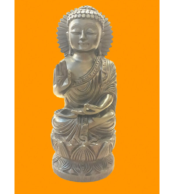 BUDDHA SITTING 8 INCH RED SANDAL WOOD