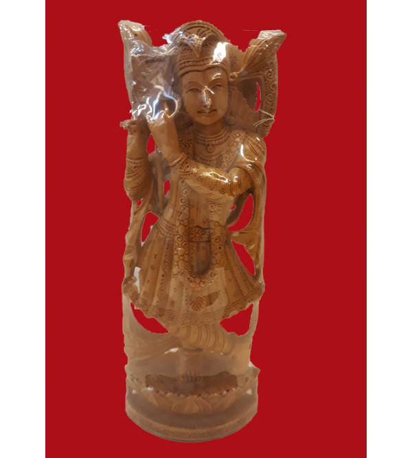 GOD FIGURE CARVED KADAM WOOD 12 INCH