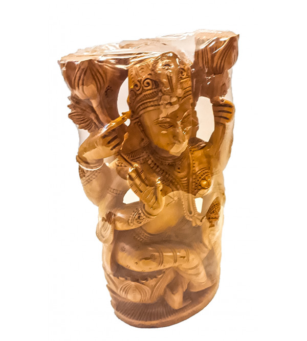Kadamba wood Handcrafted Carved Goddess Laxmi Figure