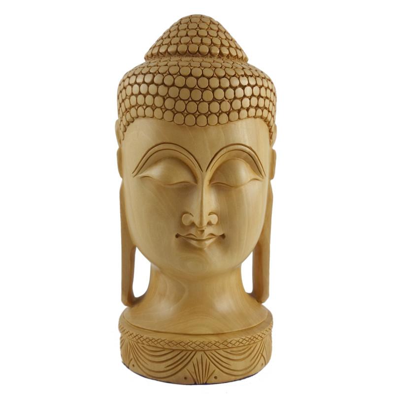 KADAM WOOD BUDDHA HEAD 8 INCH
