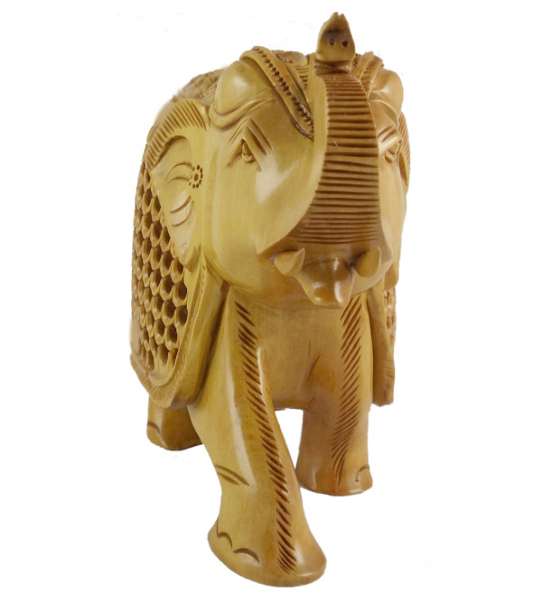 KADAM WOOD ELEPHANT UNDERCUT  6 INCH
