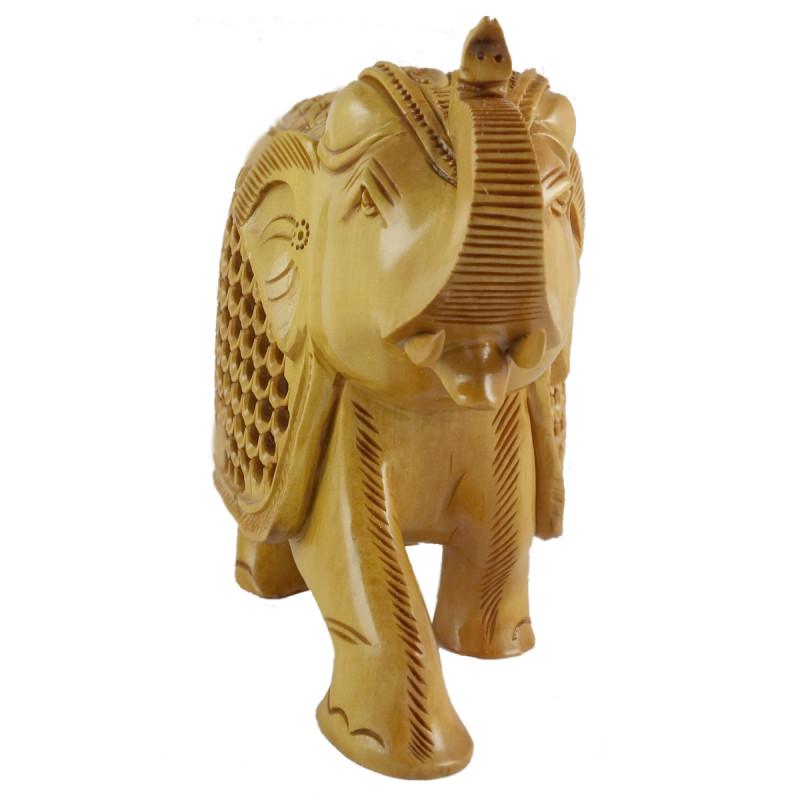 KADAM WOOD ELEPHANT UNDERCUT  6 INCH