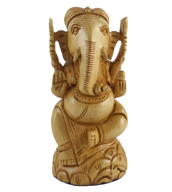 PAINTED ELEPHANT KADAM WOOD 4 INCH