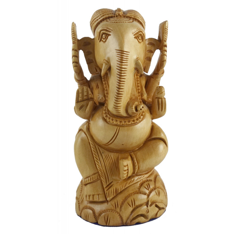PAINTED ELEPHANT KADAM WOOD 5 INCH