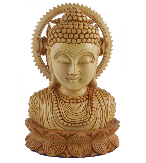 KADAM WOOD BUDDHA FACE 5 Inch