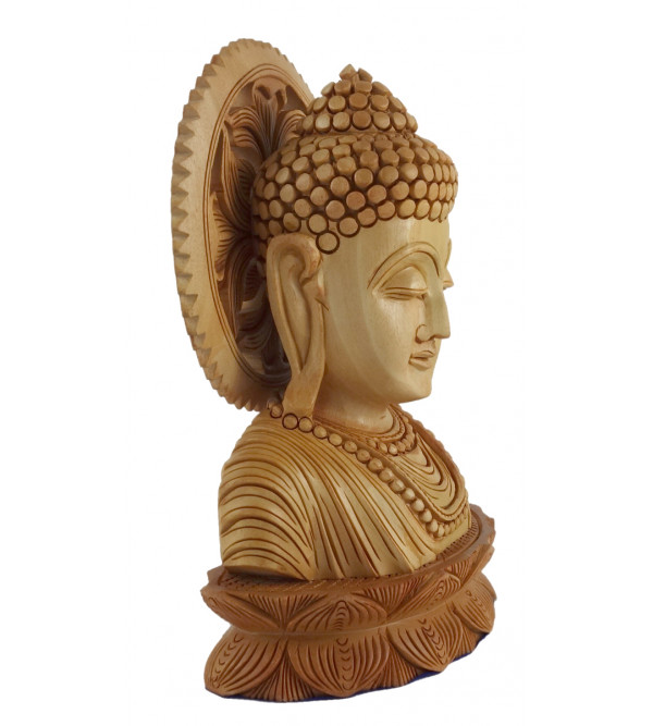 KADAM WOOD BUDDHA FACE 7 Inch