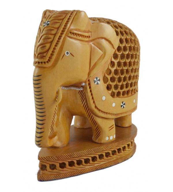 KADAM WOOD ELEPHANT UNDERCUT 3 INCH