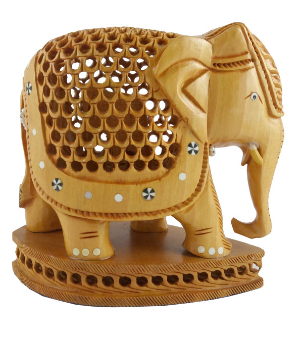 KADAM WOOD ELEPHANT UNDERCUT 5INCH