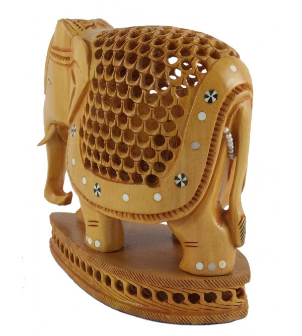 KADAM WOOD ELEPHANT UNDERCUT 6INCH