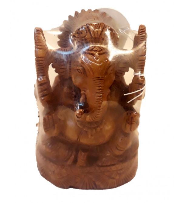 Sandalwood Handcrafted Carved Lord Ganesha Figure