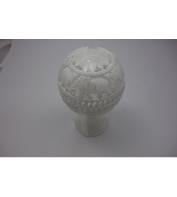 Alabaster BALL WITH STAND 4 Inch
