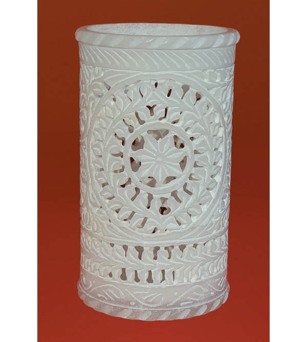 Handicraft Mable Flower Vase With Jali Work Size 6 Inch