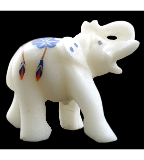 HANDICRAFT ASSORTED MARBLE ELEPHANT 2 INCH