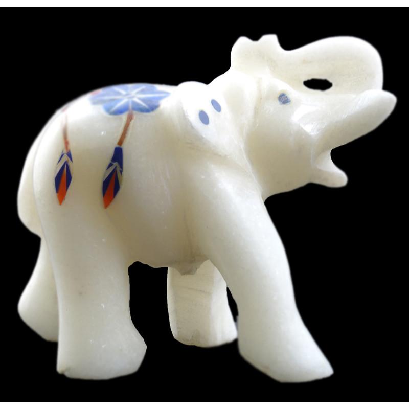 HANDICRAFT ASSORTED MARBLE ELEPHANT 2 INCH