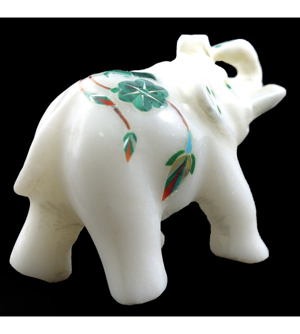 HANDICRAFT ASSORTED MARBLE ELEPHANT 2.5 INCH