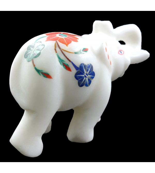 HANDICRAFT ASSORTED MARBLE ELEPHANT 3 INCH