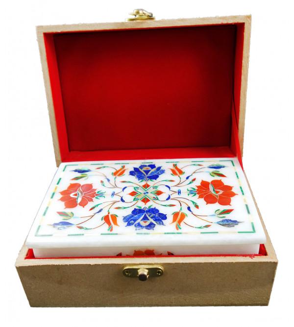 HANDICRAFT ASSORTED MARBLE BOX 6X4 INCH