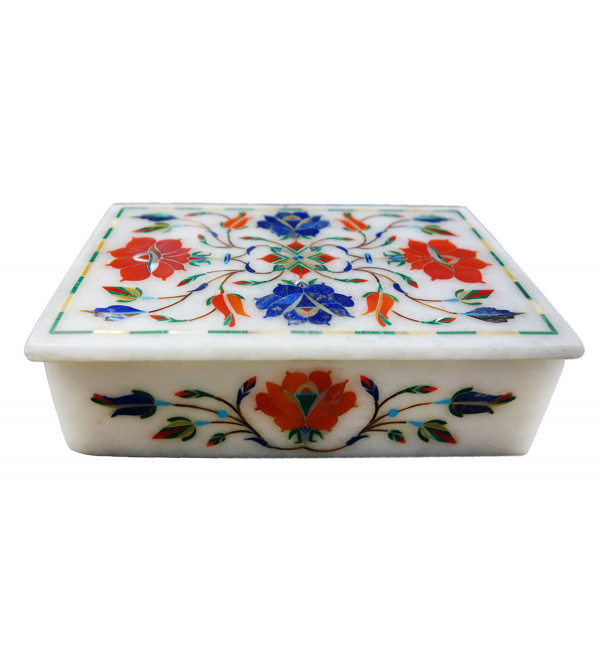 HANDICRAFT ASSORTED MARBLE BOX 6X4 INCH