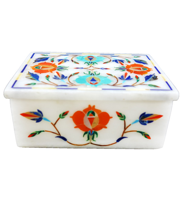 HANDICRAFT ASSORTED MARBLE BOX 4X3 INCH
