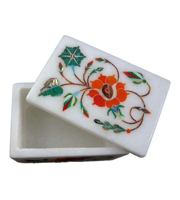HANDICRAFT ASSORTED MARBLE BOX 3X2 INCH
