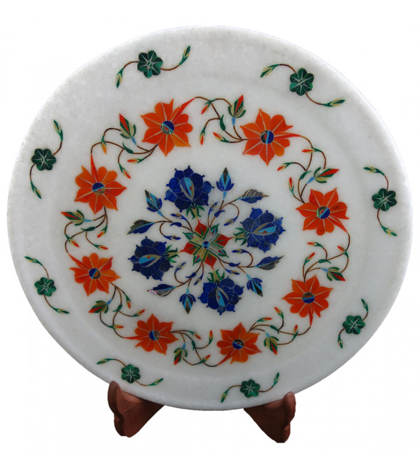 HANDICRAFT ASSORTED MARBLE PLATE 10 INCH