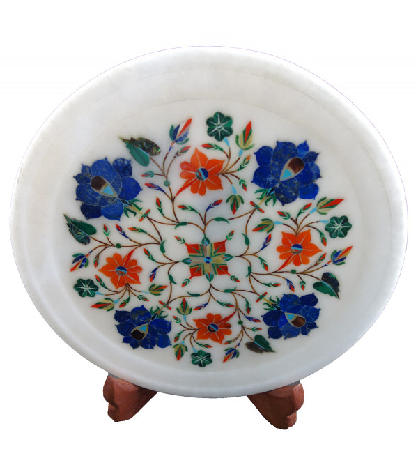 HANDICRAFT ASSORTED MARBLE PLATE 9 INCH