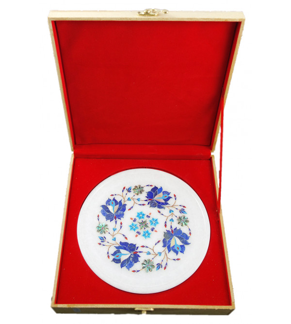 HANDICRAFT ASSORTED MARBLE PLATE 8 INCH