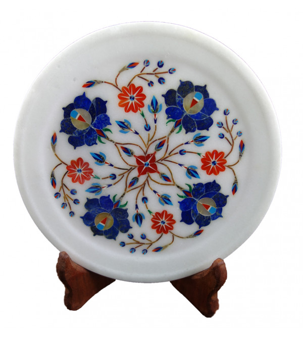 HANDICRAFT ASSORTED MARBLE PLATE 7 INCH