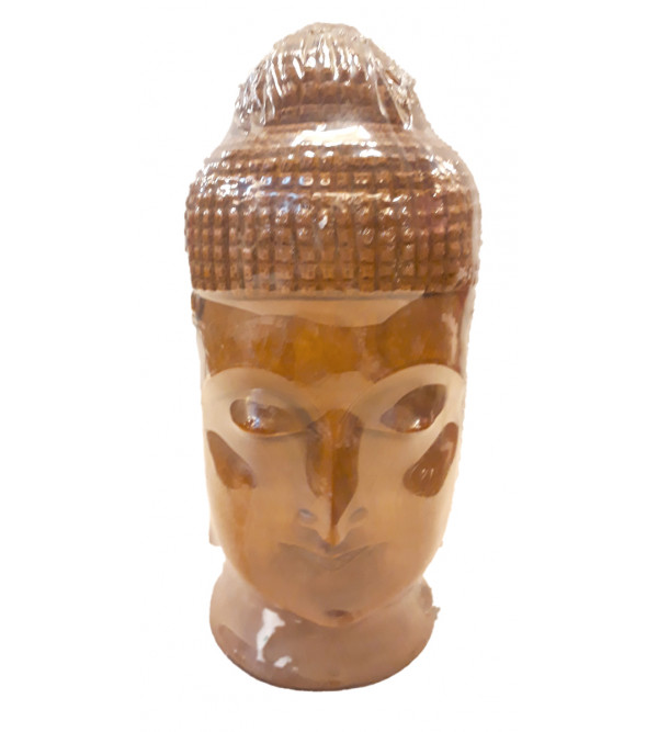 Sandalwood Handcrafted Carved Buddha Head Figurine