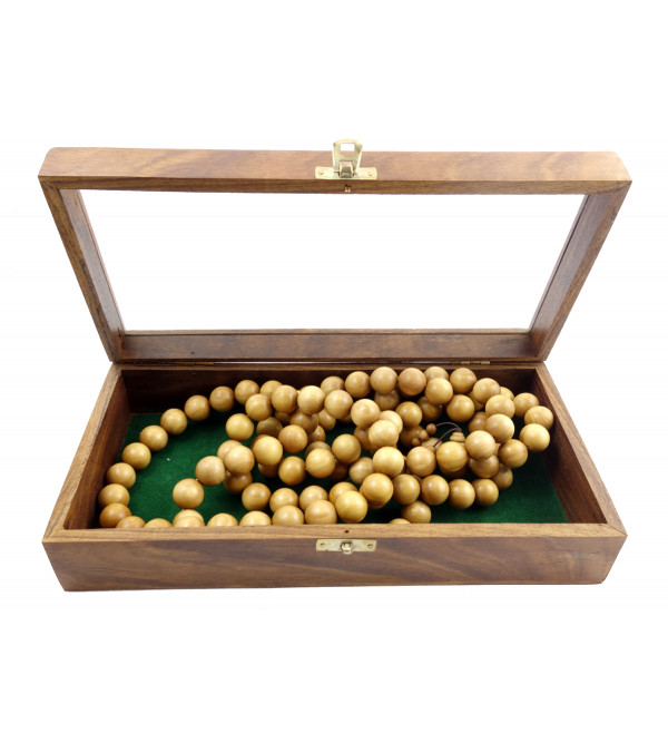 Sandal Wood Japmala  A Grade 18 MM 108 Beads