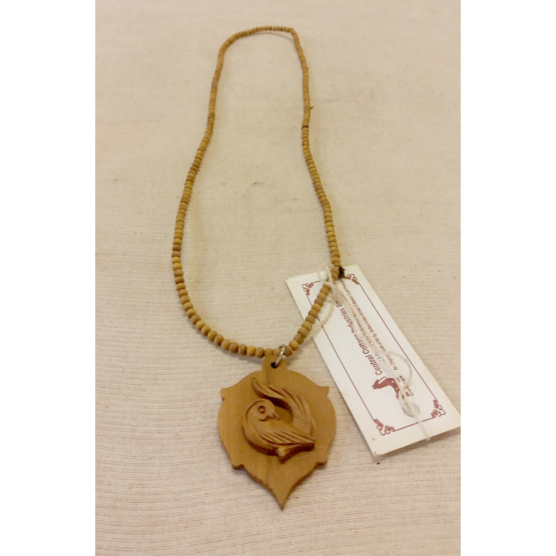 Sandalwood Handcrafted Pendant with Beaded String