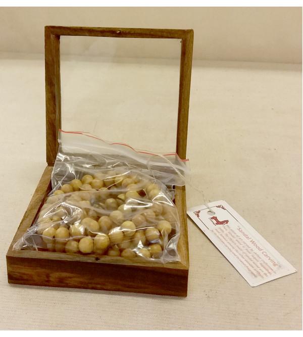 Sandalwood A Grade Handcrafted Rosary ( Japmala )