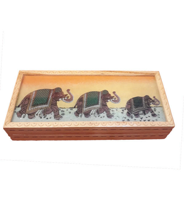 WOOD GEM STONE BOX