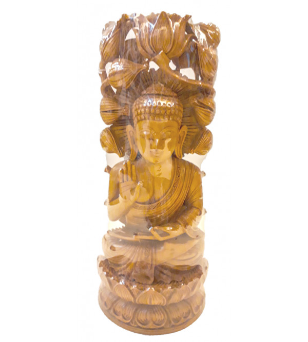 Sandalwood Handcrafted Lord Buddha Figure in Meditation Position