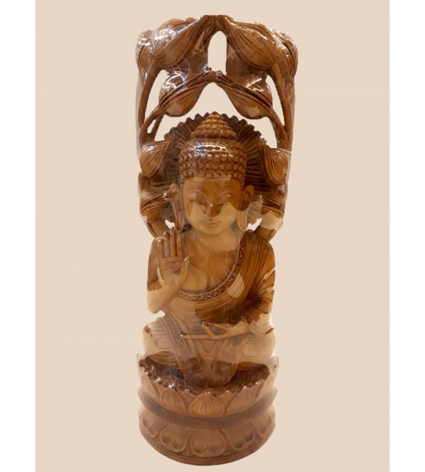Sandalwood Handcrafted Sitting Lord Buddha Figure