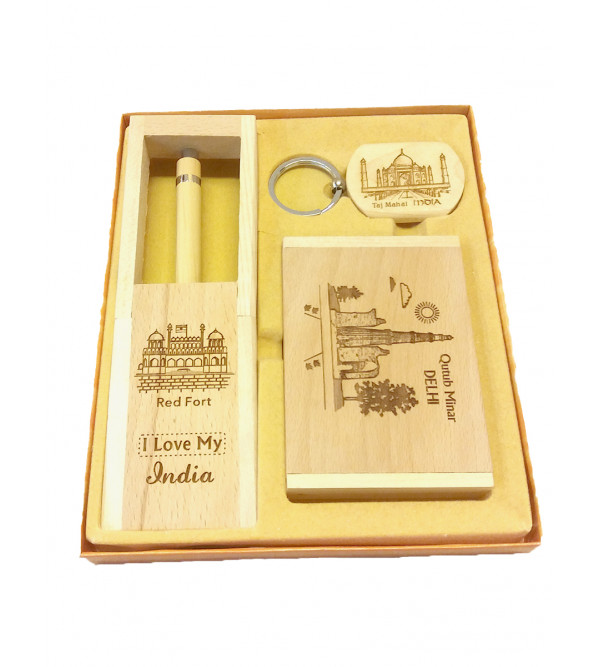 GIFT SET card holder key chain watch with stand
