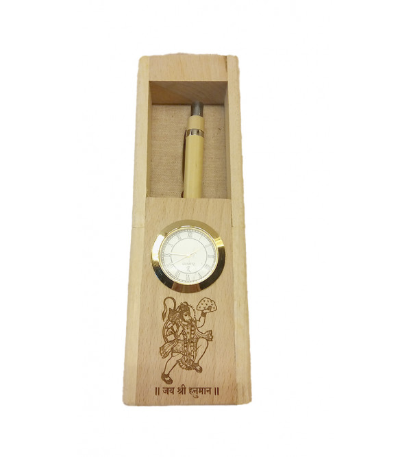 Wooden Handcrafted Gift set Of Pen with Watch