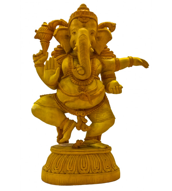 GOD FIGURE CARVED KADAM WOOD Ganesh 20 inch