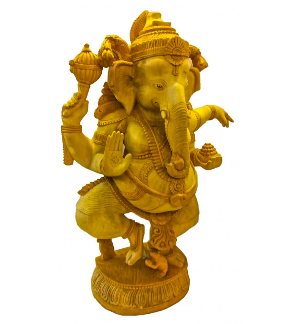 GOD FIGURE CARVED KADAM WOOD Ganeshji 24 inch