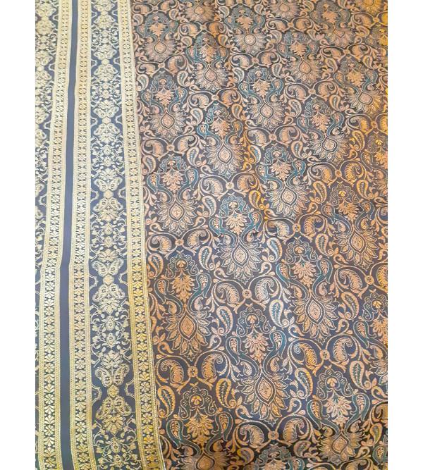 Bed cover silk woven Banaras 60x90 inch