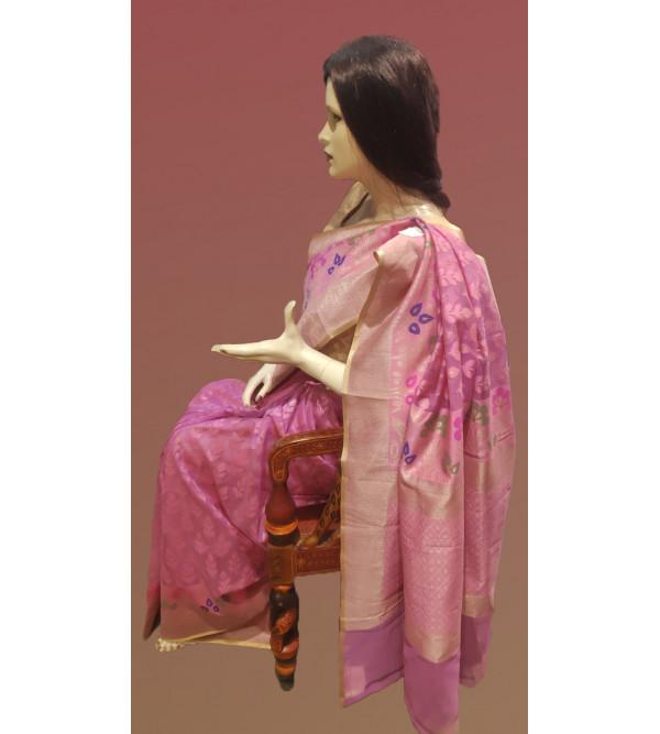 Banaras Cotton Handwoven Zari Saree With Blouse
